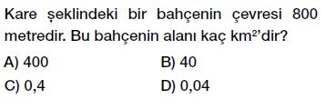 6. sınıf alan ölçme birimleri testi çöz, pdf indir