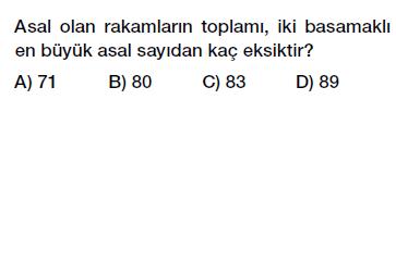 6. Sınıf Asal Sayılar Testi Çöz