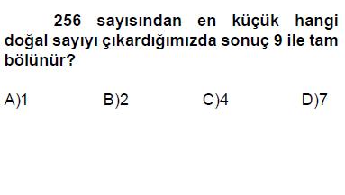 6.sınıf bölünebilme kuralları testi online çöz