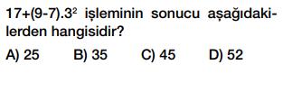6. sınıf işlem önceliği testi çöz