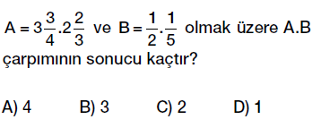 6.sınıf kesirlerle çaprma işlemi testi çöz, pdf indir
