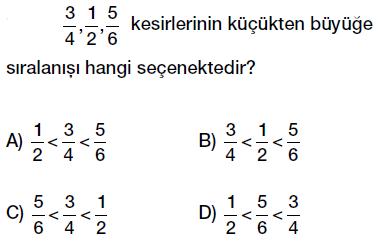 6. Sınıf 1.Dönem 2. Matematik Yazılı Sınavı Çöz