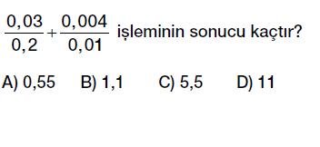 6. sınıf ondalık gösterim bölme işlemi testi çöz indir