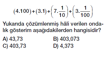 6. sınıf ondalık kesirler çözümleme ve yuvarlama testi çöz indir