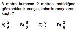 6. sınıf oran testi çöz cevap anahtarlı