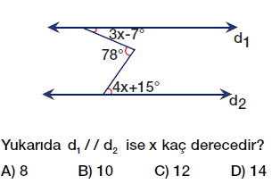 7. Sınıf Doğruda Açılar testi çöz, pdf indir