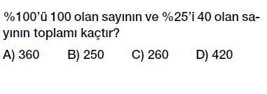 7. Sınıf Yüzdeler testi indirmeden çöz, pdf indir